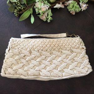 Anthropologie Crochet Clutch by Kimchi Blue